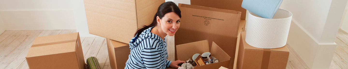 woman packing for a move